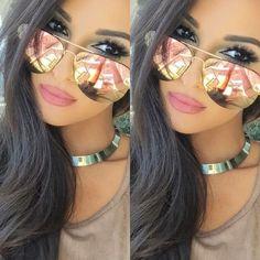 My Muse Sexy Girl Women Oversized Mirror Reflective Lens Women Men Sunglasses #FashionDeals #Aviator