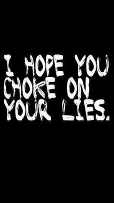 Lies hurt, try being honest!