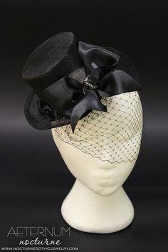 Black roses Hat fascinator  costume hair by AeternumNocturne