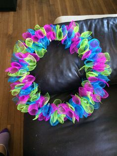 Spring deco wreath