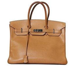3bdcc626a9a Preowned Authentic Hermes Birkin 35 Natural Vache Liegee Palladium Plated  Hardware Bag 2006