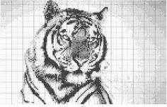 Tiger crochet pattern from StitchFiddle :O