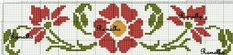 This Pin was discovered by Gül Cross Stitch Bookmarks, Cross Stitch Borders, Cross Stitch Rose, Cross Stitch Flowers, Cross Stitching, Cross Stitch Patterns, Diy Embroidery, Cross Stitch Embroidery, Embroidery Patterns