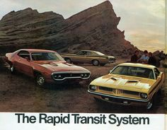1972 Plymouth Rapid Transit System - Roadrunner, Cuda and Duster 340