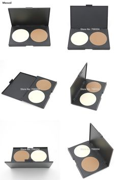 [Visit to Buy] Contour Makeup Professional 1 Pics Two-color Pressed Powder Repair powder  Bronzer &Light yellow  02 #Advertisement