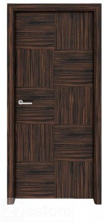 This interior door signals to all who enter that the environment will be fun, playful and creative   #ebony #interior #home #doors