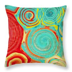 Running in Circles  Throw Pillow by Bonnie Bruno.  #cushions #accentpillow #homeaccents #decor #design