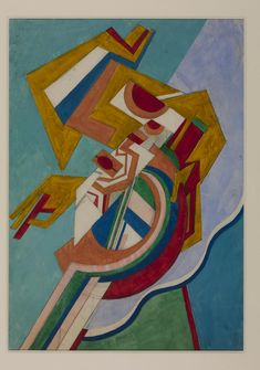 Helen Saunders, 'Abstract Multicoloured Design' c.1915