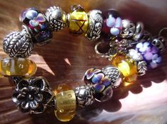 A lovely bracelet from a U.S. collector on Trollbeads Gallery Forum!  Join us!  http://trollbeadsgalleryforum.ning.com/