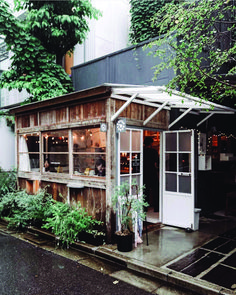 Shozo Coffee Store, Tokyo 📷 (via Where I'd like to be right now Cafe Shop Design, Small Cafe Design, Cafe Interior Design, Store Design, House Design, Italian Interior Design, Contemporary Interior, Modern Design, Small Coffee Shop