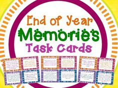 A set of 32 fun and engaging tasks for students to complete that will get them thinking about their school year! Includes a wide variety of tasks, ranging from writing scrips, designing advertisements, creating games, interviewing friends, etc. all with an end of the year theme focusing on memories from the school year. $