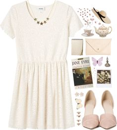 """""""""""It is madness in all women to let a secret love kindle within them, which, if unreturned and unknown, must devour the life that feeds it."""" - Charlotte Brontë, Jane Eyre"""" by skydancer18 on Polyvore"""