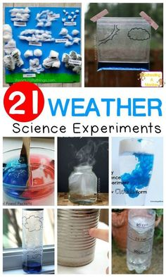 Weather Science for Kids: Simple Weather Science Experiments - Try these weather science experiments and learn all about weather science in a hands-on way that kids will love! Weather science for kids is so much fun! science for kids Weather Activities For Kids, Preschool Weather, Weather Science, Kindergarten Science, Elementary Science, Science Experiments Kids, Science Classroom, Teaching Science, Science For Kids