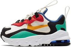 Nike Air Max 270 RT TD Kids Multi-Color baby shoes CD2654-001 Baby Nike Shoes, Baby Sneakers, Sneakers Nike, Nike Kids, Air Max 270, Coloring For Kids, Nike Free, Nike Air Max, Stuff To Buy