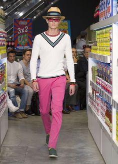 Moschino Uomo Spring/Summer 2013 fashion show #menswear