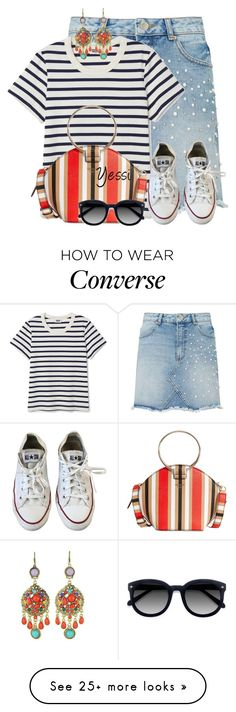 """""""~ Denim Skirt ~"""" by pretty-fashion-designs on Polyvore featuring Miss Selfridge, WithChic, GUESS, Converse and Ace"""