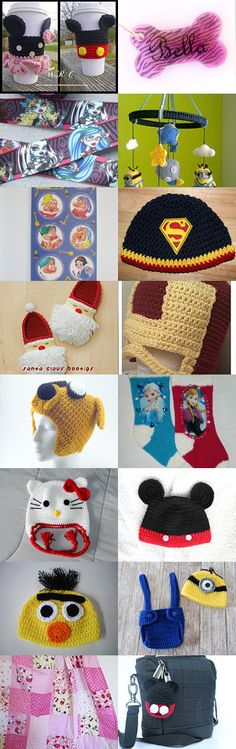 Movie and Cartoon Characters by Jennifer Lacek on Etsy--Pinned with TreasuryPin.com