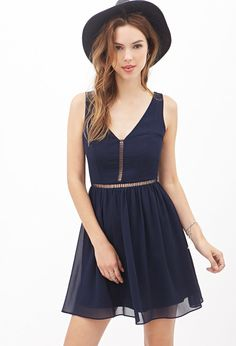 Ribbon-Trimmed Fit & Flare Dress #F21StatementPiece