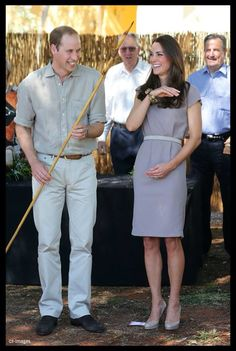 I love this beige combo for both William and Kate!