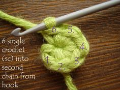 How to crochet in the round.