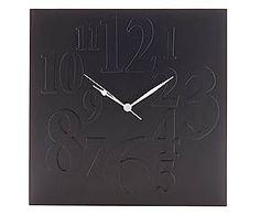 Настенный часы Mix - МДФ - черный - 33x33 см