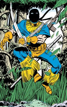Deathstroke when he first started out by George Pérez