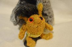 Handmade baby troll hand knitted item felted by EclecticWandering