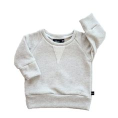 01bdc6036810 Heather Grey Crew Sweatshirt – Sweet Tea and Caviar - A Baby Boutique Crew  Sweatshirts