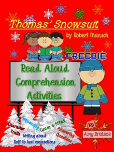 "FREEBIE CCSS aligned comprehension activities to go with ""Thomas' Snowsuit"" by Robert Munsch"