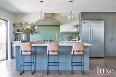 Blue and Green Modern Kitchen