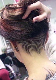 54 Badass Undercut Hair Tattoos für Frauen in der Liebe mit Hair Art Pompadour Hairstyle, My Hairstyle, Fringe Hairstyles, Undercut Hairstyles, Cool Hairstyles, Wedding Hairstyles, Undercut Hair Designs, Undercut Styles, Undercut Women