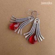 Wire  bead earrings