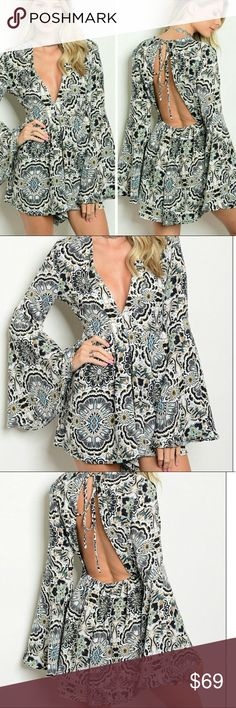 Sale Bell Sleeve Romper Sale Bell Sleeve Romper Threadzwear Pants Jumpsuits & Rompers