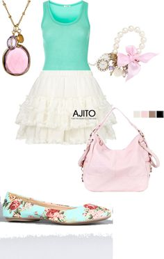 cute summer outfit, created by nicseb23 on Polyvore