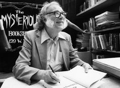 Isaac Asimov, 1920-1992  The scientist and writer Isaac Asimov autograph his book, February 2, 1984 in a bookstore in New York, USA. Asimov died April 6, 1992. (AP Photo / Mario Suriani)