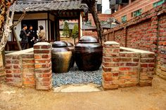 A few Kimchi Pots at a tourist destination in Daegu, South Korea. Daegu South Korea, North Korea, Kimchi, Asian Tigers, South Korea Photography, National Language, Chris Anderson, Korean Wave, Korean Language