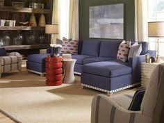 Vanguard Furniture: 647-LAH - Stanton Left Arm Chaise, 647-ALS - Stanton Armless Loveseat, V274-CH - Zoe Chair, P440E - Sierra End Table, P250E - Luxor Spot Table, P224E - Mirage Spot TableCH_P440E