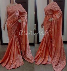 Code:3112153 - Tusser silk Cut Work Saree Price INR:10200/-