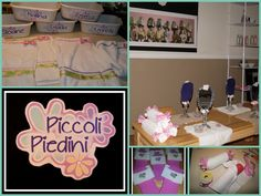 Girls spa day party set up toddlertimetips.com  For more pictures look on Face Book Fabulous ideas, projects and activities  Toddler Time Tips https://www.facebook.com/toddlertimetips