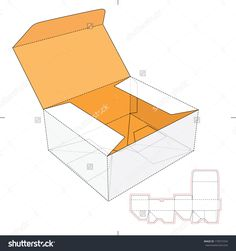 Fast-Food Cardboard Box With Die-Cut Pattern Stock Vector Illustration 179577254 : Shutterstock