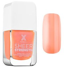 Sephora Formula X Sheer Strength Treatment Nail Polish in Phenomnal (sheer melon porcelain).