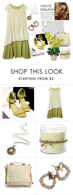 """""""Love NewChic"""" by pixidreams on Polyvore featuring Post-It, Himalayan Trading Post and Nearly Natural"""