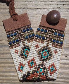 """BOHO Beaded Bracelet""""Chain Of Lakes"""" 1.5inch wide Hand Woven on Native American OJIBWA Loom by Artist Sherri Tremain Owner of Adornments925."""