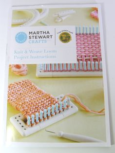 Martha Stewart Knitting and Weaving Loom. I have one but haven't used it yet.  The directions included are poor. However, I found this page and WOW what a help.  There are 24 YouTube Videos also that are a great help.  I can't wait to use it now.