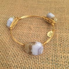Bourbon and Boweties Periwinkle and Sand Standard Wrist