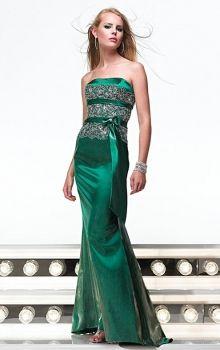 Green Mermaid/Trumpet Strapless Natural Long/Floor-length Sleeveless Sashes/Ribbons Prom Dresses Dress