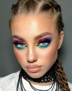 Pink Eye Makeup, Edgy Makeup, Eye Makeup Art, Cute Makeup, Makeup Looks, Makeup Inspiration, Design Inspiration, Makeup Ideas, Makeup Makeover
