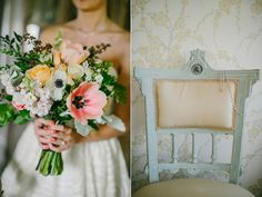 Flanagan Farm Wedding, photo by Emily Delamater. Our tulips and daffs, sustainably-grown garden roses and Maidenhair fern from Peterkort Roses in Oregon.