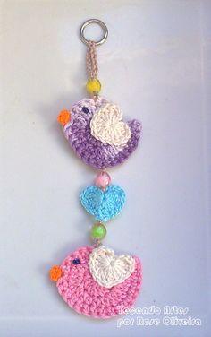 Crochet Pincushion, Crochet Birds, Crochet Buttons, Crochet Amigurumi, Love Crochet, Crochet Motif, Crochet Crafts, Crochet Yarn, Yarn Crafts