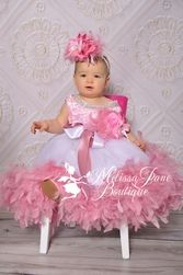 Pageant Girls Dusty Rose Jeweled Flower Girl Dress- Girls Flower Girl Dress- Special Occassion Dresses-LollipopMoon.com only $168.00 - New Items